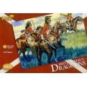 napoleonische britische dragoner 12 zu pferde figuren mit extrahüten für umwandlungsmöglichkeiten.