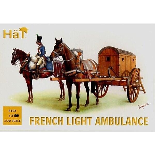 Französischer Leichter Krankenwagen x 3 pro Schachtel