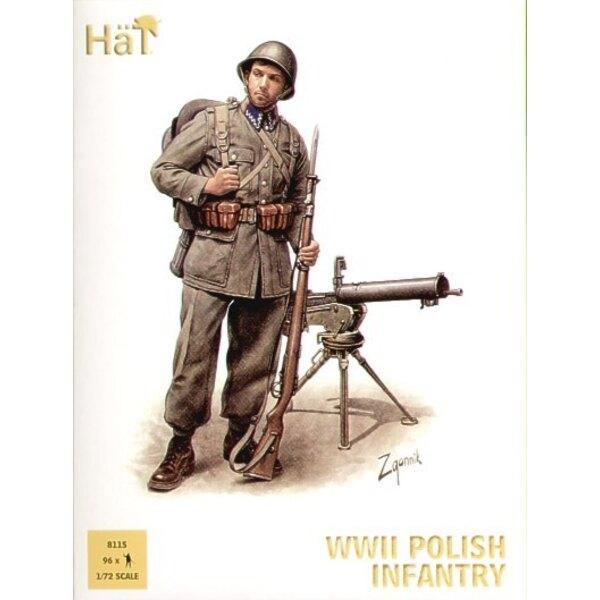 2WK-Polnisch-Infanterie x 96 Figuren pro Schachtel. Beschreibung - beinhaltet Infanterie-Offiziere NCOs leichte und schwere Masc