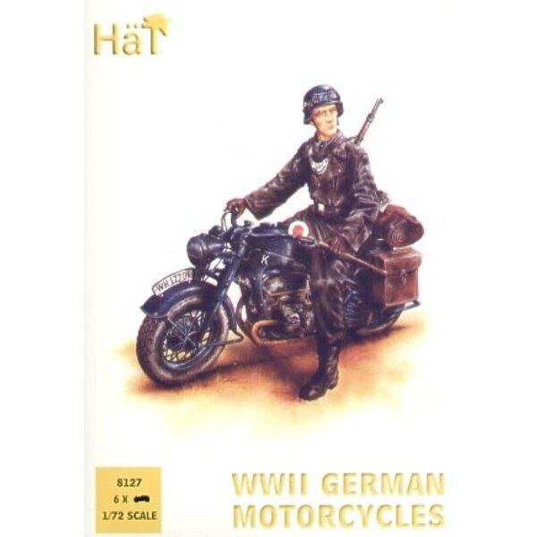 Deutscher Zundapp Motorcycles 2WK. 6 Räder 15 Reiter. 6 Stehfiguren. (ab HAT99011)