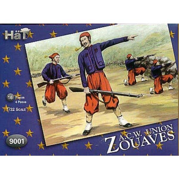 Amerikanischer Bürgerkrieg Zouaves. Die Armee US war hoch unter Einfluss französischer Uniformen vor dem Bürgerkrieg in Höhe von