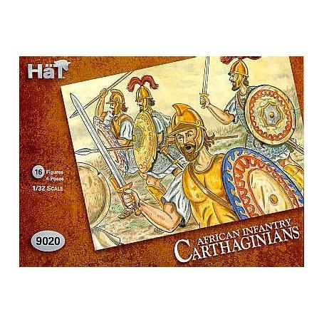 Mit den Karthagern leichte afrikanische Infanterie-Figuren