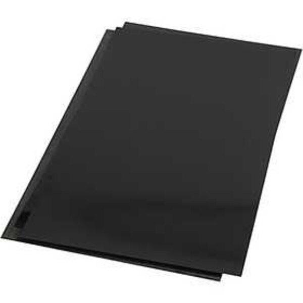 Plastik-Schrumpffolienplatten, Blatt 20x30 cm, Mattschwarz, 100Bl.