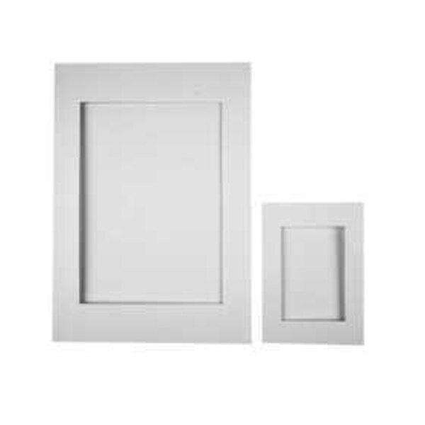 Passepartout-Rahmen, Größe A4+A6 , Bildausschnitt: 6,5x12,5+16x21 cm, Weiß, 230 g, 120sort.