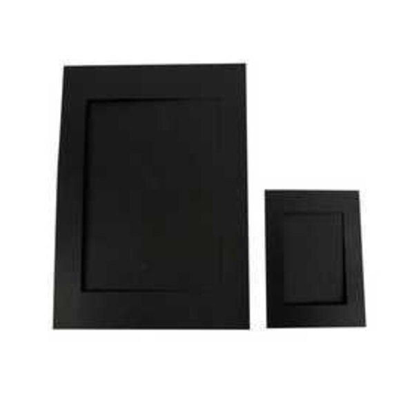 Passepartout-Rahmen, Größe A4+A6 , Bildausschnitt: 6,5x12,5+16x21 cm, Schwarz, 180 g, 120sort.