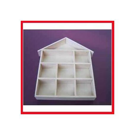 Setzkasten, Größe 26x25,2 cm, H 3,5 cm, Kaiserbaum, 1Stck. CC Hobby CCH-56409