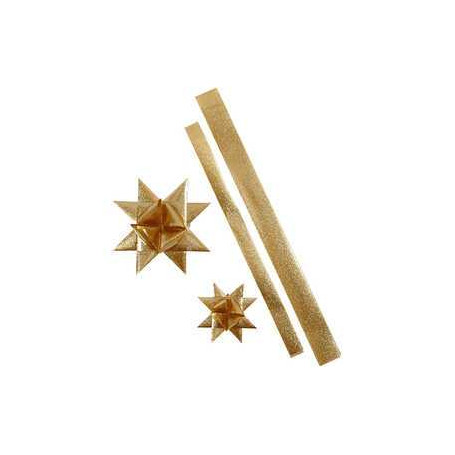 Fröbelsterne 2 design gold//glitter 15 mm 24 Streifen