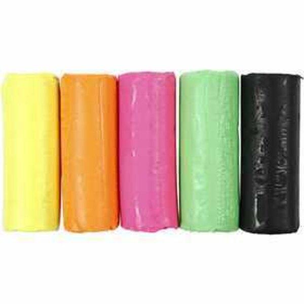 Soft Clay - Sortiment, H 9,5 cm, D: 10 cm, Neonfarben, 400g