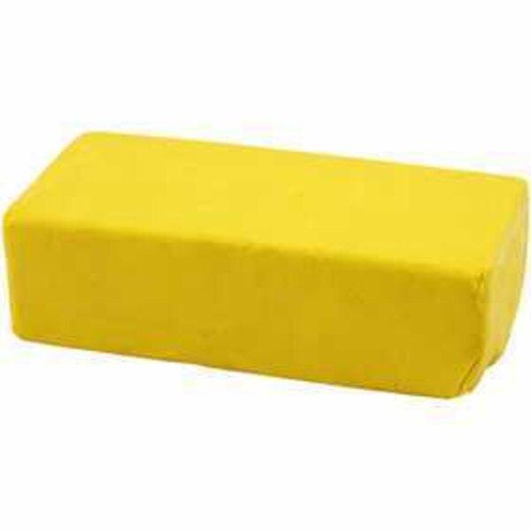 Soft Clay Knetmasse, Größe 13x6x4 cm, Gelb, 500g