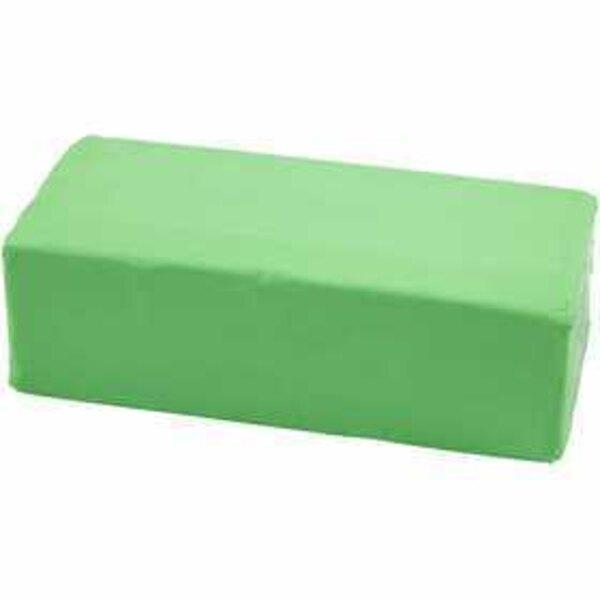 Soft Clay Knetmasse, Größe 13x6x4 cm, Neongrün, 500g