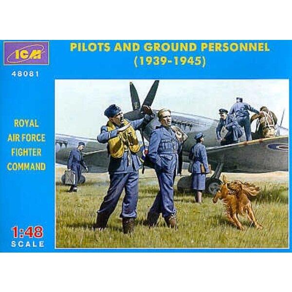 RAF Pilots und Boden-Personal 1939-1945
