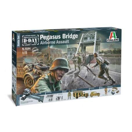 Pegasus Bridge Glider AssaultPegasus Bridge (MDF Laser Cut) Britische FallschirmjägerDeutsche Fallschirmjäger3 x Deutsche Kanone