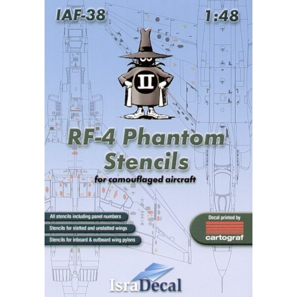 RF-4E Phantom complete stencil data for one camouflaged aircraft 2 decal sheets 1:32 Scale