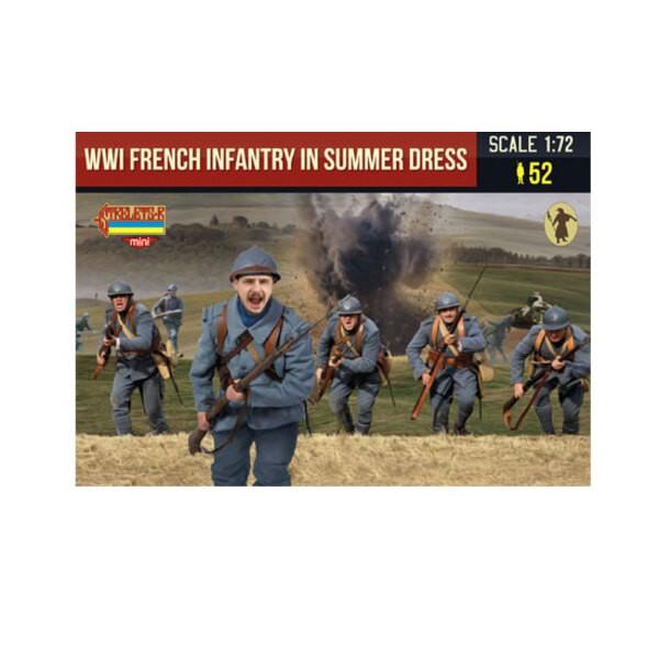 Französische Infanterie 1. Weltkrieg im Sommerkleid