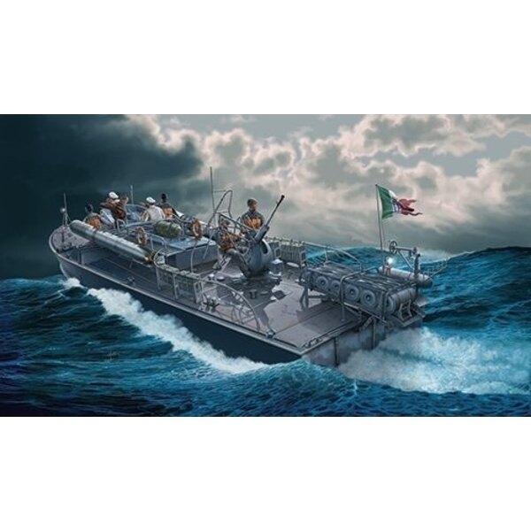 MAS 568 4a serie Italienisch patrouilliert schnell Boot ab. Besatzung-Figuren sind in IT5611 verfügbar. Seit dem Ersten Weltkri