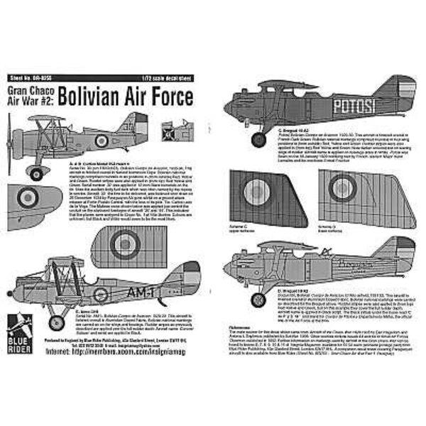 Bolivian Air Force Gran Chaco War Part 2. (6) Curtiss 35A Hawk No 30 Airco DH 9 AM-1 Breguet 19 A2 Potosi overall dark green or