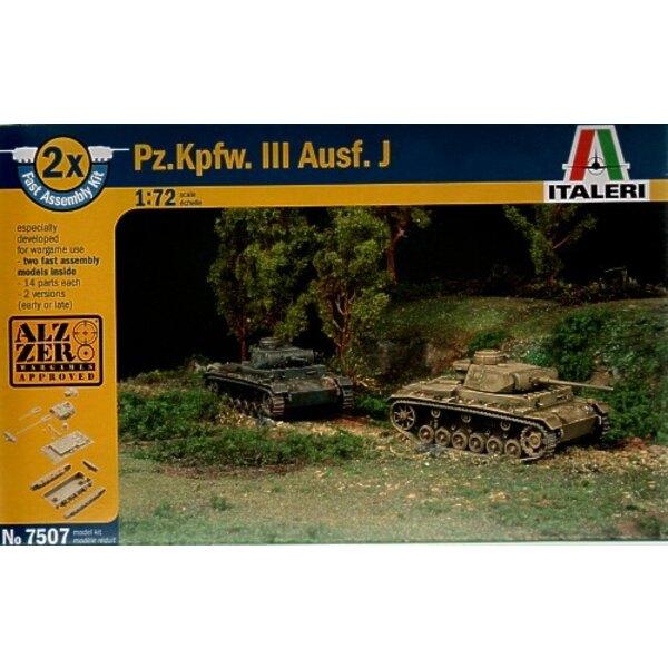"""Pz.Kpfw.III J """"snap together"""" beinhaltet 2 Panzer-Bausätze"""