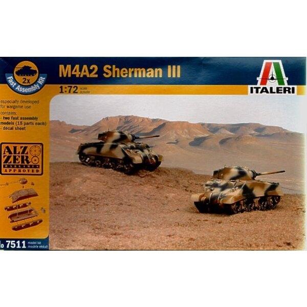 M4A2 Sherman III schließt 2 Schnappen zusammen Fahrzeuge ein
