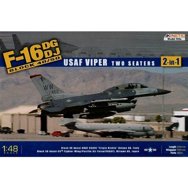 Lockheed Martin F-16NG ODER Lockheed Martin F-16NJ USAF Giftschlange Block 40/50. Abziehbilder USAF 555FS Aviano Luftwaffenstütz