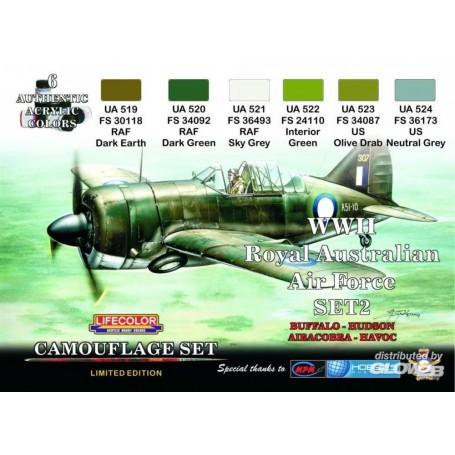 Australian Air Force WWII (RAAF) Set 2 LIFECOLOR 2920202