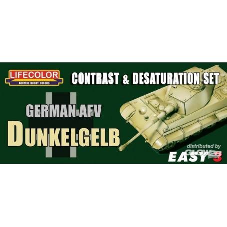 Germ.AFV Dunkelgelb Contr.&Desaturat.Set LIFECOLOR 2920401