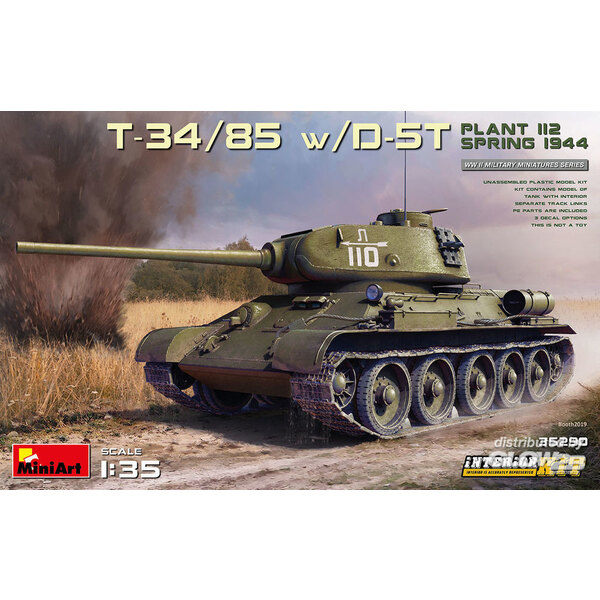 T-34/85 w/D-5T. PLANT 112. SPRING 1944. INTERIOR KIT Mini Art 6465290