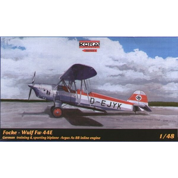Focke Wulf Fw 44E mit Argus 8B Reihenmotor