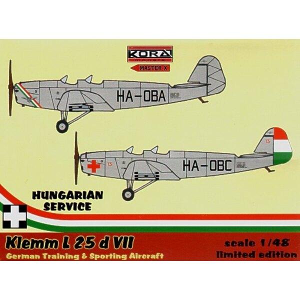 Klemm Kl 25 d VII. Abziehbilder Ungarn