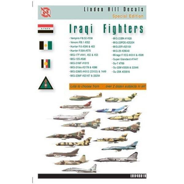 Iraqi Fighters (28) Includes Vampire FB.52 Hunter F.6 Hunter F59A Mikoyan MiG-17F Mikoyan MiG-21MF Mikoyan MiG-21bis Mikoyan MiG