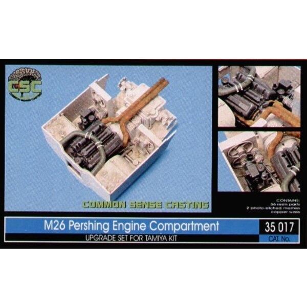 Motorabteilung von M26 Pershing (für Bausätze von Tamiya)