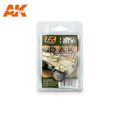 Verwitterungsset des Afrika-Korps AK Interactive AK-AK068