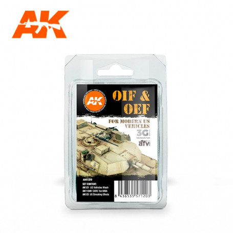 OIF & OEF - Verwitterungsset für US-Fahrzeuge AK Interactive AK-AK120
