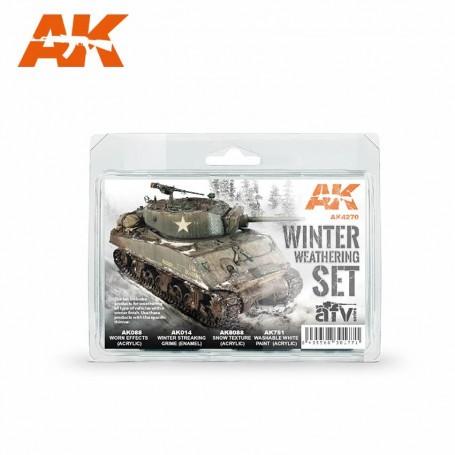 WINTER WEATHERING SET AK Interactive AK-AK4270