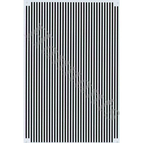 1:16' Black Parallel Stripes