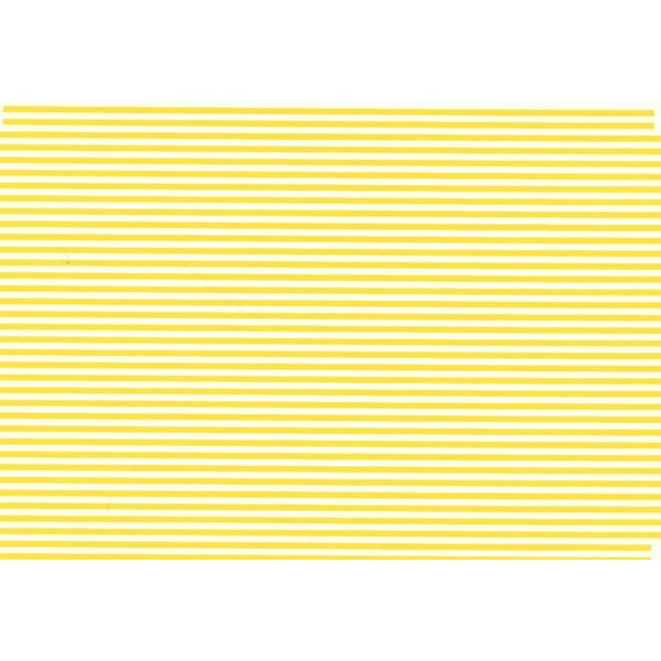 1:16' Yellow Parallel Stripes