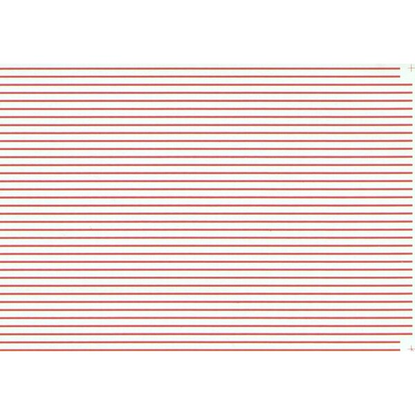 1:32 Parallel Stripes Red