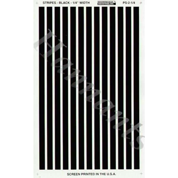 1:4 Black Parallel Stripes