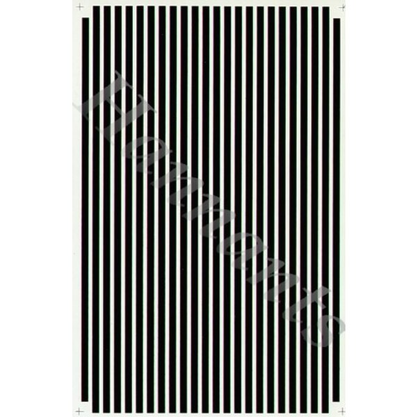 1:8 Parallel Stripes Black
