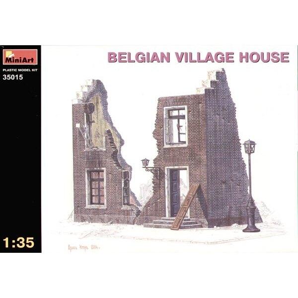 zerstörtes belgisches Dorfhaus