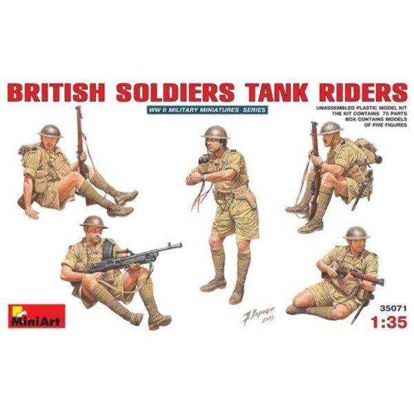 Britische Soldat-Panzer-Reiter