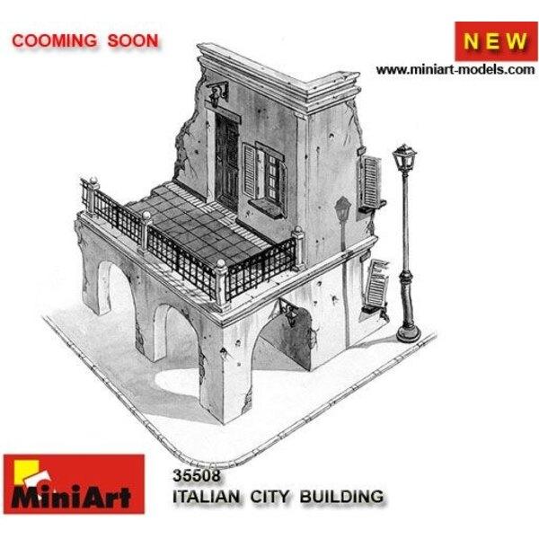 zerstörtes italienisches Stadtgebäude