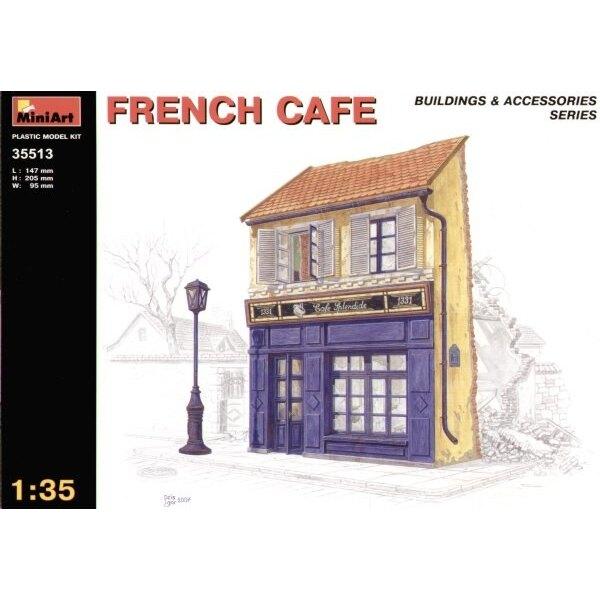 zerstörtes französisches Café