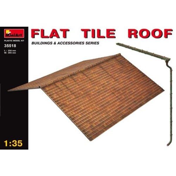 Flaches Schieferartiges Ziegel-Dach