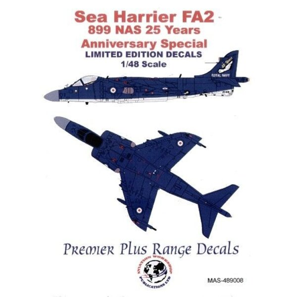 BAe Sea Harrier FA.2 (1) ZH809 899 NAS 25th Anniversary special Overallemand blue with white undersurfaces