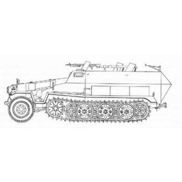 Sd.Kfz.251:16 Ausf. D Flammenwerfer (für Bausätze von Hasegawa)