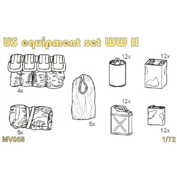 Ausrüstung US geht unter 2WK-Set enthält detaillierte über Ausrüstungset-2WK-Benzinkanister-Ölkanister-Schlaf-Tasche-Kelte-Leinw