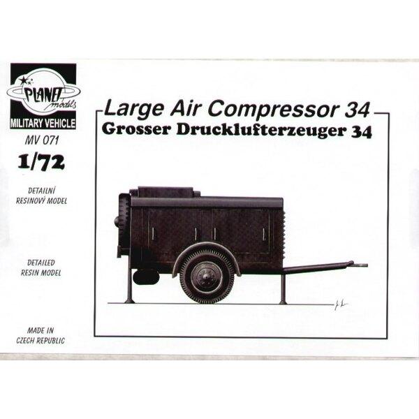 Grosser Drucklufterzeuger 34. es kann eindrucksvoll klingen, aber es ist nur ein große Luftkompressor-Ideal für Dioramen