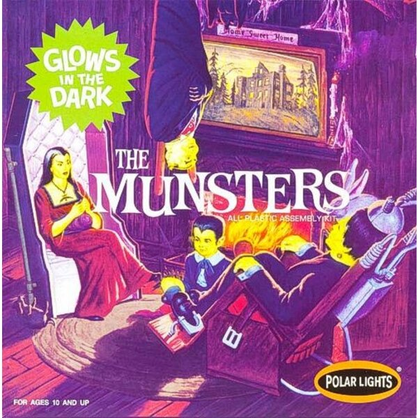 The Munsters. Detailed Replica of their living room. Assembled kit is 7 tall and 8 wide. Includes optional glow parts for spooky
