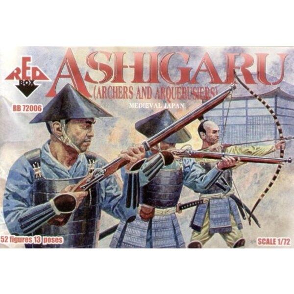 Japanischer Ashigaru (Bogenschützen und Arquebusiers)