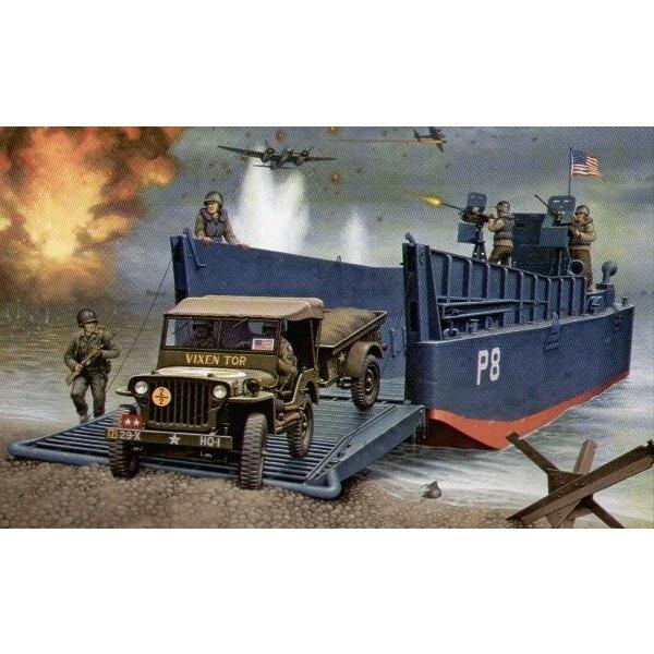LCM III 50ft & Jeep und Anhänger.
